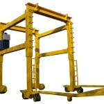 Straddle Crane with tow bar
