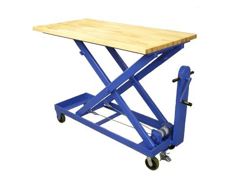 Gentil Mechanical Lift Table Butcher Block